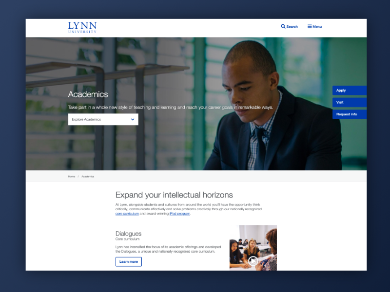 A sample image of our work for Lynn University
